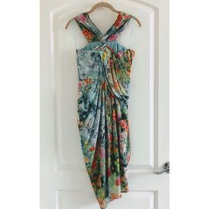 ASOS Petite Dresses - ASOS Halter Drape Front Asymmetrical Dress